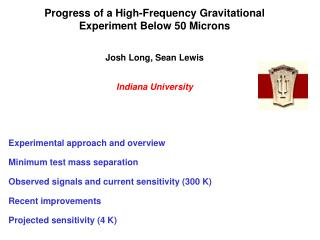 Progress of a High-Frequency Gravitational Experiment Below 50 Microns