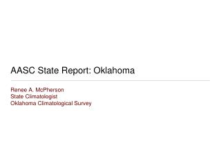 AASC State Report: Oklahoma