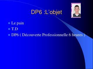 DP6 :L'objet