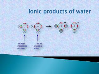 Ionic products of water