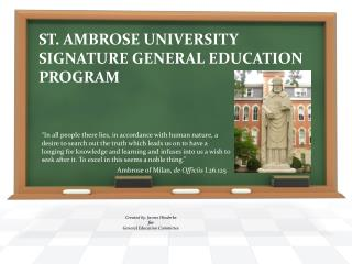 St. Ambrose University Signature General Education Program