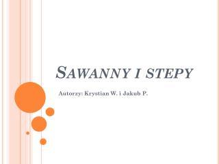 Sawanny i stepy