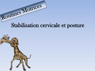 Stabilisation cervicale et p osture