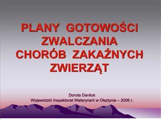 PLANY GOTOWOSCI ZWALCZ