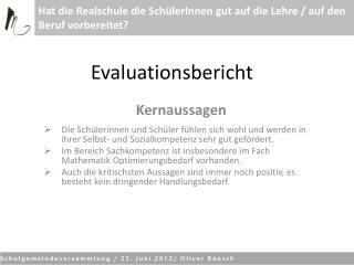 Evaluationsbericht