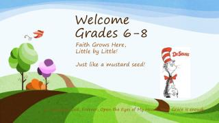 Welcome  Grades 6-8