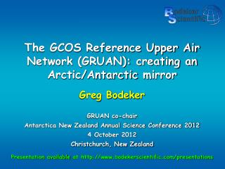 The GCOS Reference Upper Air Network (GRUAN): creating an Arctic/Antarctic  mirror