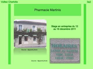 Pharmacie Martinis