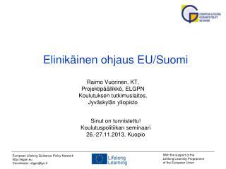 Elinikäinen ohjaus EU/Suomi