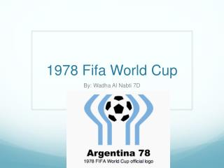 1978 Fifa World Cup