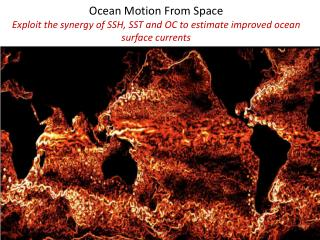 Ocean  Motion  From Space