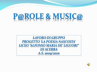 P@role  &  MUSIC@
