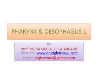 PHARYNX & OESOPHAGUS 1