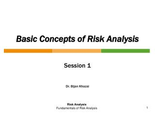 Basic Concepts of Risk Analysis