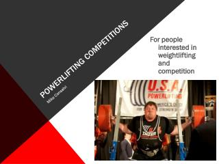 POWERLIFTING COMPETITIONS