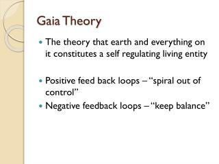 Gaia Theory
