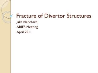 Fracture of  Divertor  Structures