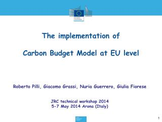 The implementation of Carbon Budget Model at EU level