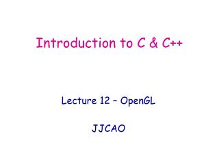 Introduction to C & C++