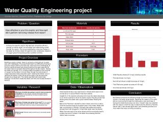 Water Quality Engineering  project