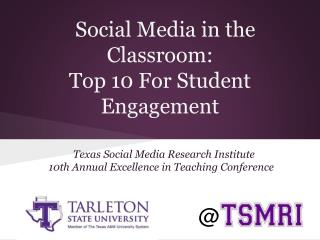 Social Media in the Classroom: Top 10 For Student Engagement