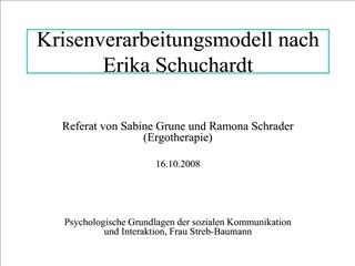 Krisenverarbeitungsmodell nach Erika Schuchardt