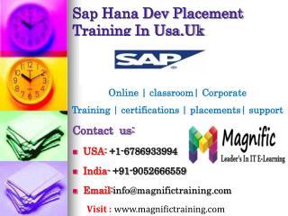 Sap Hana Dev Placement Training In Usa,Uk