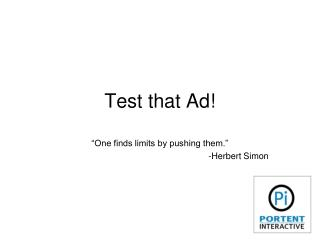 Test that PPC Ad!