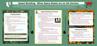 Speed Weeding the Garden Developing evaluation criteria