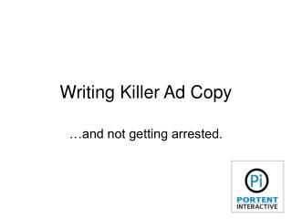Writing Killer Ad Copy