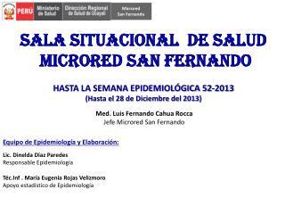 Med . Luis Fernando  Cahua Rocca Jefe  Microred  San Fernando