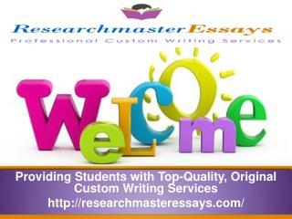 RMEssays- Providing Students Top-Quality, Original writing s