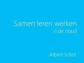 Samen leren werken in de cloud