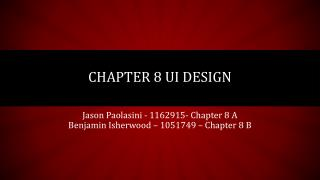 Chapter 8 UI design
