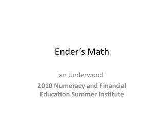Ender�s Math