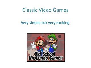 Classic computer games