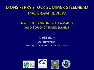 Mark Schuck Joe Bumgarner Washington Department of Fish and Wildlife