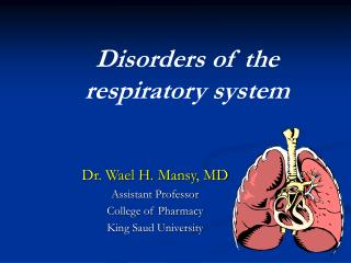 Disorders of the respiratory system