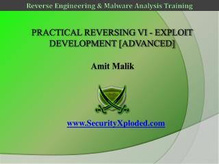 Practical  Reversing VI -  Exploit  Development [advanced]