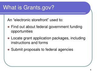 What is Grants.gov?