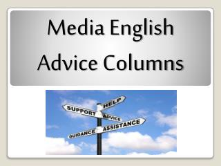 Media English Advice Columns