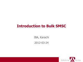 Introduction to Bulk SMSC