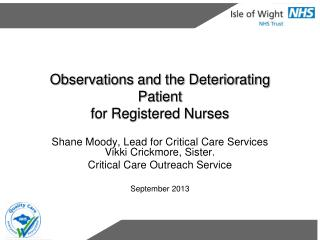 Observations and the Deteriorating Patient for Registered Nurses