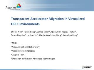 Transparent Accelerator Migration in Virtualized GPU Environments