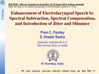 ICA 2010 :  20th Int. Congress on Acoustics, 23-27 August 2010, Sydney, Australia