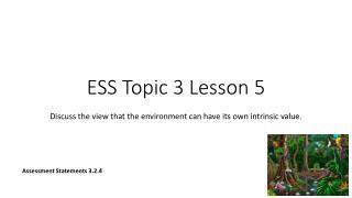 ESS Topic 3  Lesson 5
