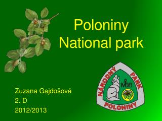 Poloniny National park