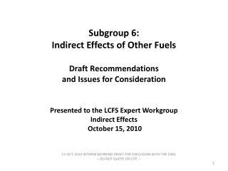 Subgroup 6 Membership