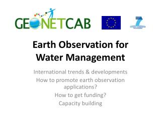Earth Observation for  Water Management