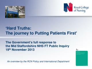 An overview by the RCN Policy and International Department